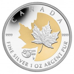 2013 Canada 1 oz Fine Silver $5 Coin - 25th Anniversary of the Silver Maple Leaf
