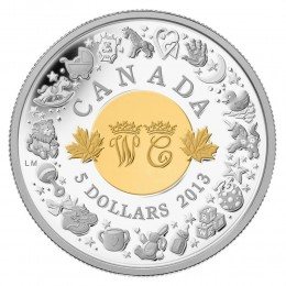 2013 Canada Fine Silver $5 Coin - Royal Infant with Toys