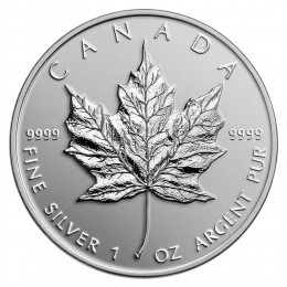 2014 Canada Fine Silver $5 Coin - Maple Leaf