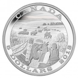 2014 Canada Fine Silver $5 Coin - Tradition of Hunting: Bison