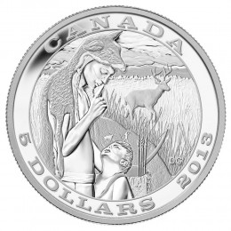 2014 Canada Fine Silver $5 Coin - Tradition of Hunting: The Deer