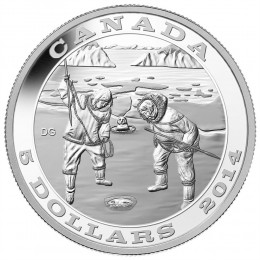 2014 Canada Fine Silver $5 Coin - Tradition of Hunting: The Seal