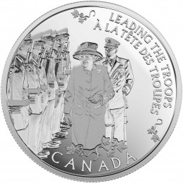 2015 Canadian $5 Today's Monarch, Yesteryear's Princess - Fine Silver Coin