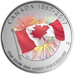 2017 (1867-) Canadian $5 Proudly Canadian - Fine Silver Coin (Glow-in-the-Dark)