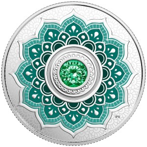 2018 Canadian $5 Birthstones: May - Fine Silver Coin