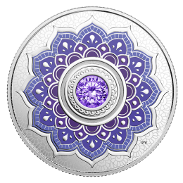 2018 Canadian $5 Birthstones: December Swarovski® Crystal & Silver Coin