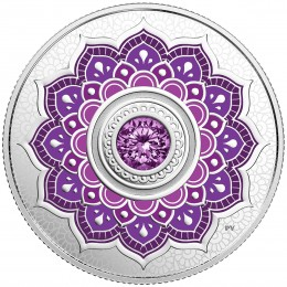 2018 Canadian $5 Birthstones: February Swarovski® Crystal & Silver Coin