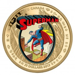 2013 Canada 14-Karat Gold $75 Coin - 75th Anniversary of Superman™: The Early Years