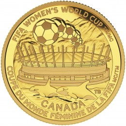 2015 Canada Pure Gold $75 Coin - FIFA Women's World Cup Canada 2015: The Championship Game