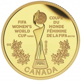 2015 Canada Pure Gold $75 Coin - FIFA Women's World Cup Canada 2015: The Trophy