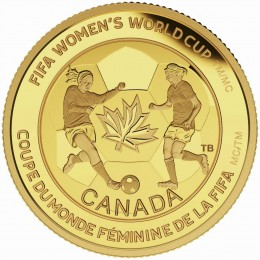 2015 Canada Pure Gold $75 Coin - FIFA Women's World Cup Canada 2015 - The Soccer Ball