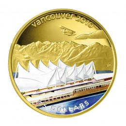 2008 Canada 14-kt Gold $75 Coin - Vancouver 2010 Olympic Winter Games: Home of the 2010 Olympic Winter Games (NO BOX)