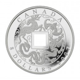 2007 Canadian $8 The Shape of Trade in Ancient China Square-holed Silver Coin