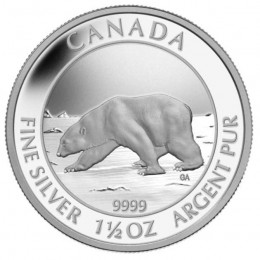 2013 Canadian $8 Polar Bear - 1.5 oz Fine Silver Coin