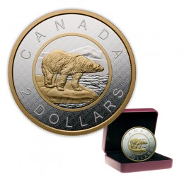 2015 Canada Big Coin Series $2 Polar Bear - 5 oz Fine Silver Coin