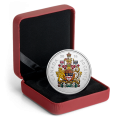 2016 Canadian 50-Cent Big Coin Series: Canadian Coat of Arms - 5 oz Fine Silver Coloured Coin