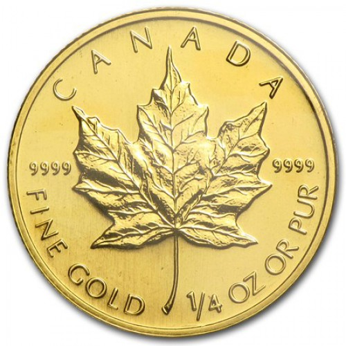 1/4 oz Canada Gold Maple Leaf Bullion Coin - Random Year