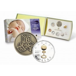 2007 Canada Premium Sterling Silver Baby Coin Gift Set - Baby Rattle