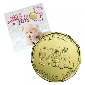 2018 Canadian Baby Coin Gift Set - Crib & Teddy Bear