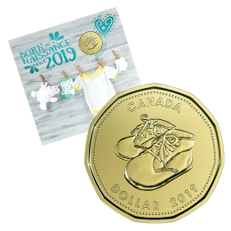 2019 Canadian Baby Coin Gift Set ft $1 Baby Shoes Loonie Dollar
