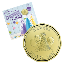 2019 Canadian Birthday Coin Gift Set ft $1 Specially Struck Loonie Dollar