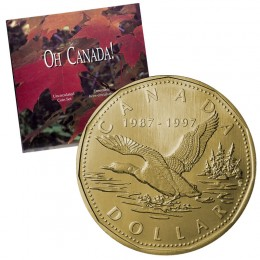 1997 Oh Canada! Uncirculated 7-Coin Gift Set ft 1997 (1987-) Flying Loon 10th Anniv Dollar
