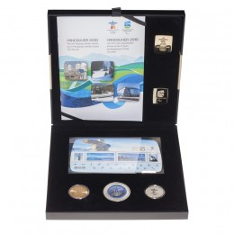 2010 Canada Vancouver Olympic Winter Games 3-Coin, Stamps & Gold Pin Set