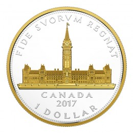 2017 Canadian $1 Royal Visit / Parliament Building Renewed Silver Dollar Series 2 oz Fine Silver Coin *Masters Club Exclusive*