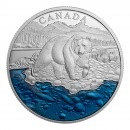 2017 Canadian $20 Iconic Canada: Grizzly Bear w/ Blue Enamel Fine Silver Coin *Masters Club Exclusive*