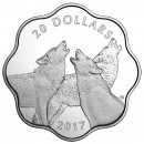 2017 Canadian $20 Master of the Land: Timber Wolf Fine Silver Scallop Coin *Masters Club Exclusive*