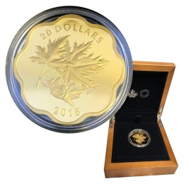 2018 Canadian $20 Iconic Maple Leaves Fine Silver & Gold-plated Scallop Coin *Masters Club Exclusive*