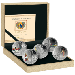 2013 Niue Fine Silver $2 5-Coin Set - Mythologies of the World: The Story of Osiris