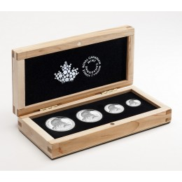 2015 Canada Fine Silver Fractional 4-Coin Set - Bald Eagle