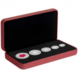 2015 Canada Fine Silver Fractional 5-Coin Set - The Maple Leaf