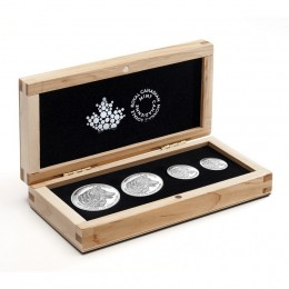 2016 Canadian The Wolf - Fine Silver 4-Coin Fractional Set