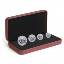 2017 Canada Fine Silver Fractional 4-Coin Set - Maple Leaf Tribute