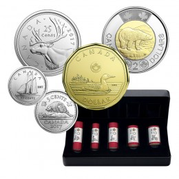 2017 Canadian 5-Coin Classic Special Wrap Roll Collection