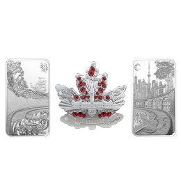 2018 Canadian Beneath Thy Shining Skies - Fine Silver 3-Coin Set