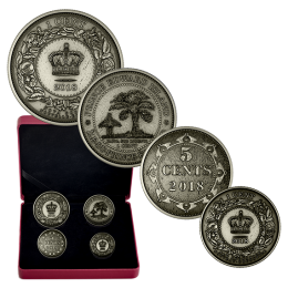 2018 Canadian Before Confederation: Colonial Currency of the Atlantic Provinces - Fine Silver 4-Coin Set