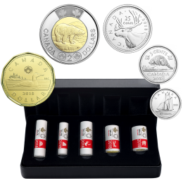 2018 Canadian 5-Coin First Strikes Special Wrap Roll Collection