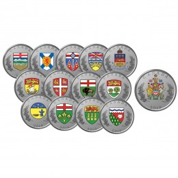 2018 Canadian Heraldic Emblems of Canada - Fine Silver 14-Coin Set