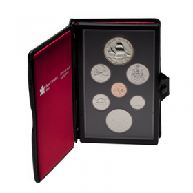 1979 (1679-) Canada Double Dollar Prestige Set - Griffon Tricentennial- coins may be lightly toned, case slightly scuffed