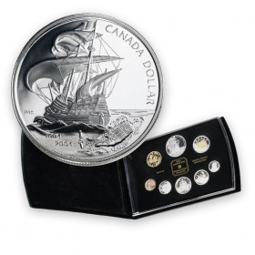 2004 Canada Double Dollar Proof Set - 400th Anniversary of the First French Settlement in North America