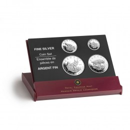 2005 Canada Lynx Fine Silver Fractional 4-Coin Proof Set