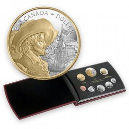 2008 Canada Proof Double Dollar Set - 400th Anniversary of Quebec City- coins may be lightly toned
