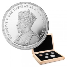 2010 (1935-) Canadian 75th Anniv of First Silver Dollar 5-Coin Proof Set (Limited Edition)