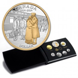 2014 Canada Proof Fine Silver Double Dollar Set - 100th Anniv of the Declaration of the First World War (Deluxe)