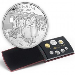 2014 Canada Proof Silver Double Dollar Set - 100th Anniv of the Declaration of the First World War