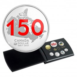 2017 Canadian Canada 150: Our Home and Native Land - Fine Silver Limited Edition Silver Dollar Proof Set