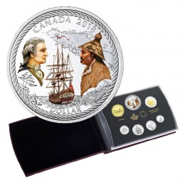 2018 Canadian Captain Cook at Nootka Sound 240th Anniv Silver Dollar Proof Coin Set (Special Edition)